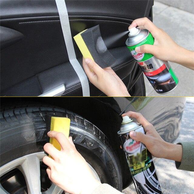 1 adet PE Çok Fonksiyonlu Ağda Temizleme Aracı Köşe Silin Temizle Artık Balmumu Balmumu Araba Iç Temizlik Araba Aksesuarları Sünger Fırça