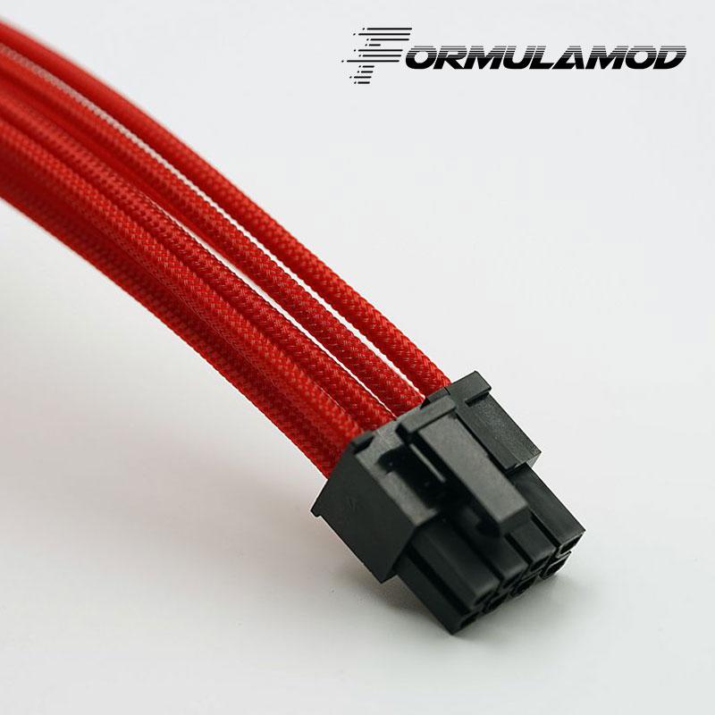 FormulaMod Fm-PCI8P-A, PCI-E 8Pin GPU удлинитель питания, материнская плата 18AWG 8Pin многоцветные соответствующие кабели расширения - Цвет лезвия: Red