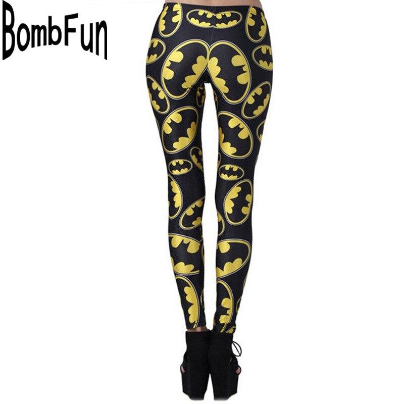 New Arrival Women Leggings Slim Waist Line Pants 3D Print Club Wear Skinny Trousers Cartoon Batman Calzas Deportivas Mujer