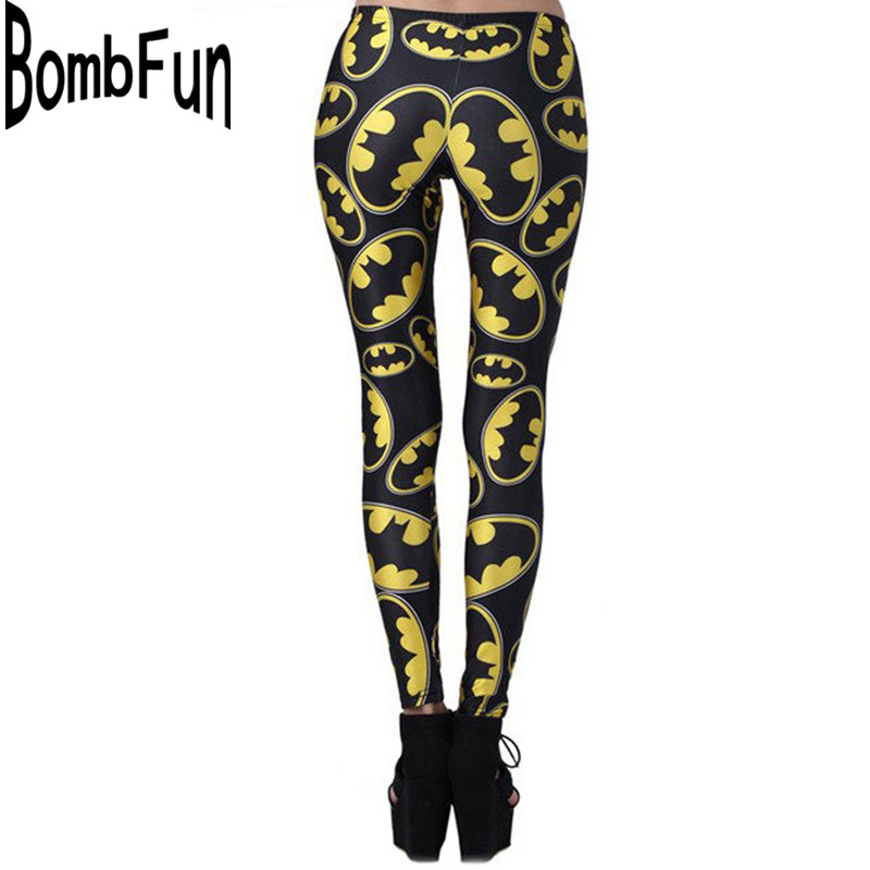 New Arrival Women   Leggings   Slim Waist Line Pants 3D Print Club Wear Skinny Trousers Cartoon Batman Calzas Deportivas Mujer