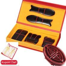 Gua Sha Tabla de masaje corporal para masaje, tablero de acupuntura para masaje, rascador, SPA, 5 unidades