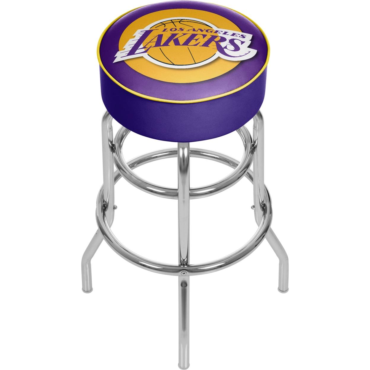 Los Angeles Lakers NBA Padded Swivel Bar Stool 30 Inches High баскетбольную форму lakers