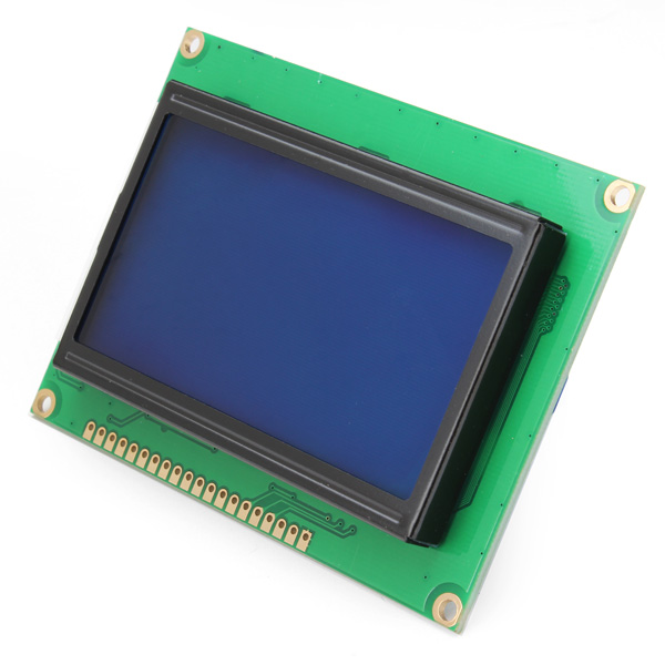 New Arrival 128 x 64 LCD Display Module Blue Screen Backlight For Arduino Controller Works ST7920 ...