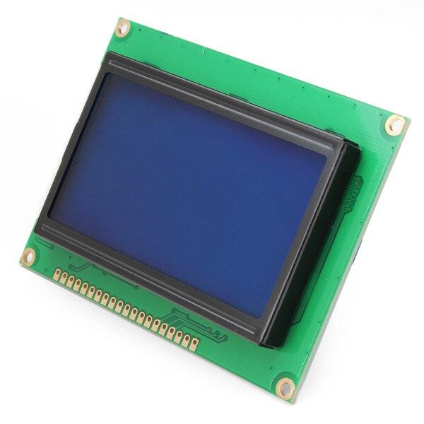 Nova Chegada 128x64 Módulo de Display LCD Tela Azul Backlight Para Arduino Obras Controlador ST7920
