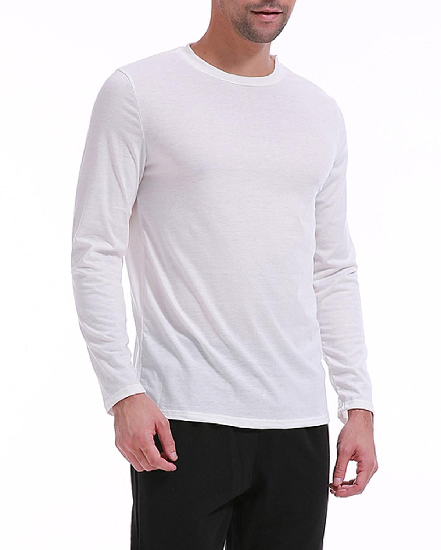 Hot Sale Classic Men T shirt Long Sleeve O neck Mens T-shirt Basic Tees Tops Mens Brand tshirt Leisure Bottoming Shirt Sleepwear