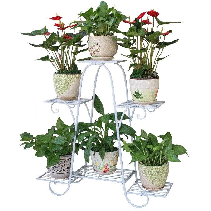 все цены на Varanda Planten Rek Decoration Terrasse Rack Metal Raflar Balcony Balcon Flower Balkon Plant Shelf