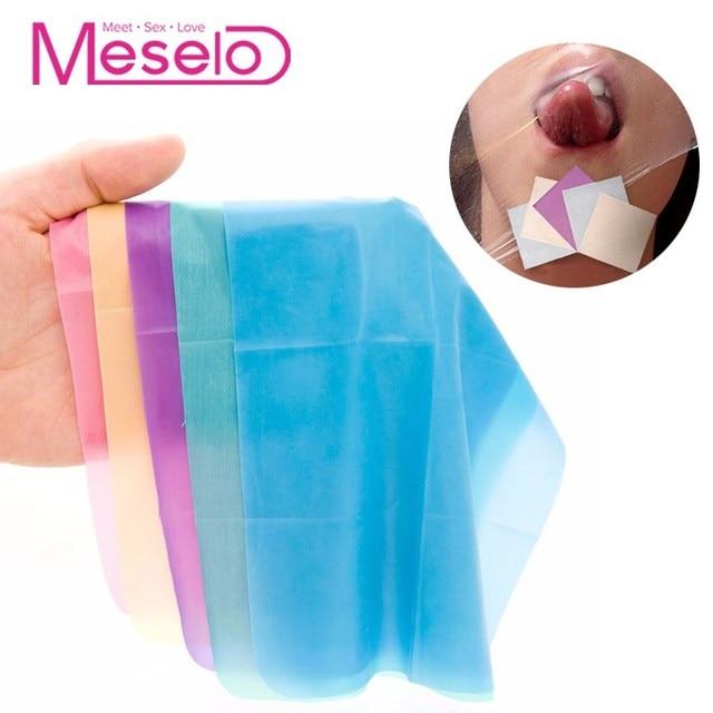 Silicone oral sex dental dam