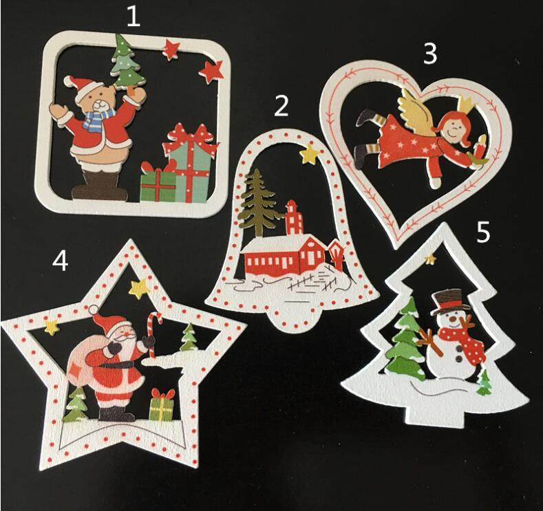 10pcs\pack, 7cm Mix Styles Christmas Openwork Scenery Pendant, for Pendant & Drop Ornaments\ DIY Toy\ Craft XP32