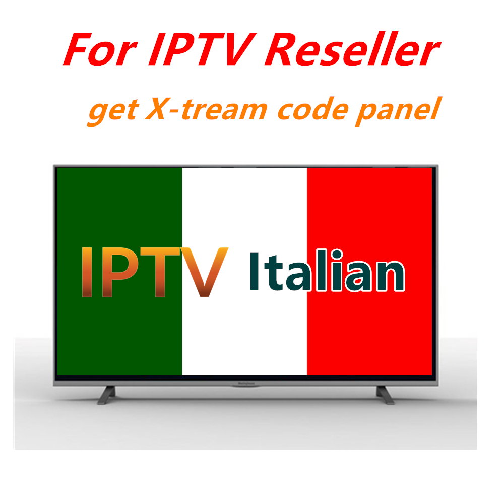 Smarters IPTV Italy Italian IPTV Reseller Panel  Can Open 1/3/6/12 Months Italia IPTV Subscription X-tream Code
