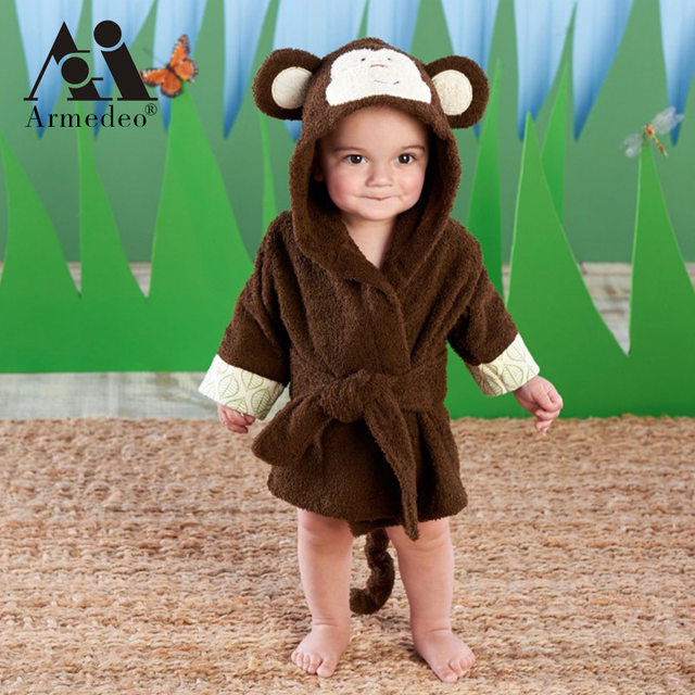 Online Shop Fashion cartoon animal style baby hooded bathrobe high ...