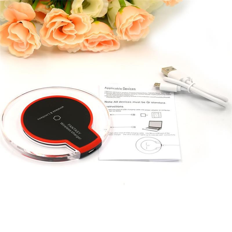 10PCS Universal Qi Wireless Charger Charging Pad Thin Power Bank Transmitter for Samsung Galaxy S6 S7 Note 5 7 Yotaphone 2