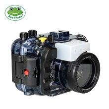 Seafrogs 195FT/60 M Водонепроницаемый для подводного погружения и дайвинга Камера лампы проектора Sony A6500 A6300 A6000 с двойной волоконно-оптических Порты и разъёмы и шарф-хомут с круглым воротником