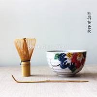 Japan handmade batidor matcha kit maccha whisk bowl tea set scoop Japanese tea accessoriestree peony whisk spoon matcha stocked