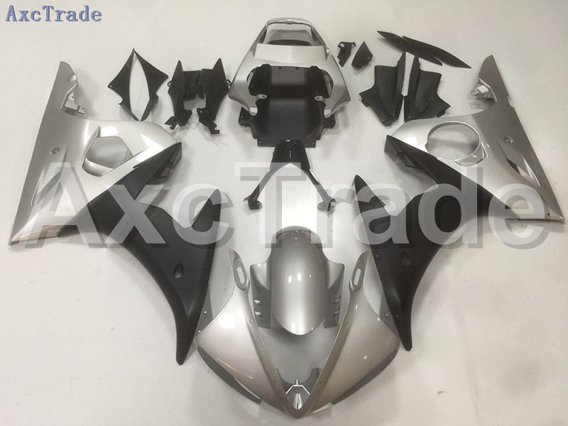 Motorcycle Fairings Kits For Yamaha YZF600 YZF 600 R6 YZF-R6 2003 2004 2005 03 04 05 ABS Injection Fairing Bodywork Kit Silver mfs motor motorcycle part front rear brake discs rotor for yamaha yzf r6 2003 2004 2005 yzfr6 03 04 05 gold