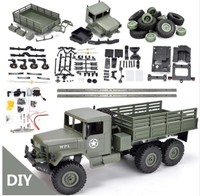 WPL B16 B 16 6WD Off Road RC Military Truck WPL Upgrade KIT DIY 1:16 RC Car Buggy RC WPL Monster Truck 6 Wheel Assemble Crawler