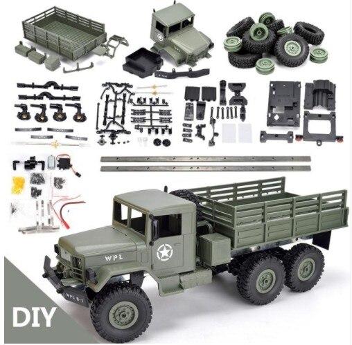 WPL B16 B-16 6WD Hors Route RC Camion Militaire WPL Mise À Niveau KIT DIY 1:16 RC Voiture Buggy RC WPL monster Truck 6 Roue Assembler Sur Chenilles