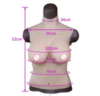 Top quality half body solid E cup boobs for crossdresser breast plate for cosplay Transgender Through SGS certification