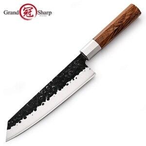 Image 1 - Couteaux de cuisine japonais, couteau Kiritsuke fait main, Chef outils de cuisine manche en bois produits écologiques de haute qualité, nouveauté 2019
