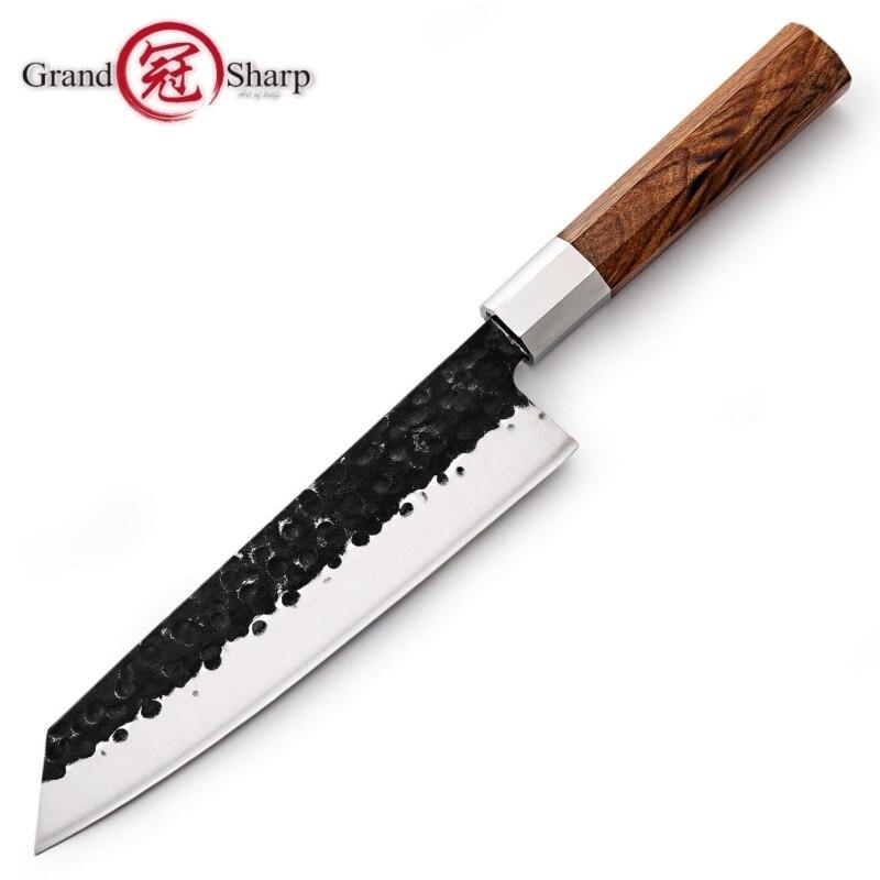 Nouveau 2019 couteaux de cuisine japonais fait à la main Kiritsuke couteau Chef outils de cuisine manche en bois de haute qualité produits écologiques