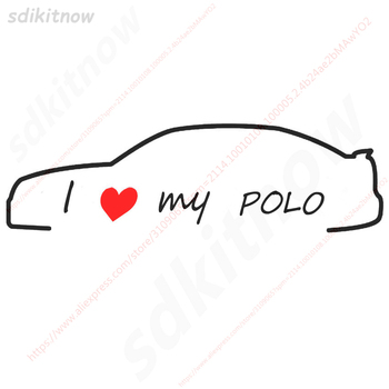 28x8cm I love my car Decal Creative Sticker Styling Window Decoration For volkswagen GTI POLO 2018 accessories image