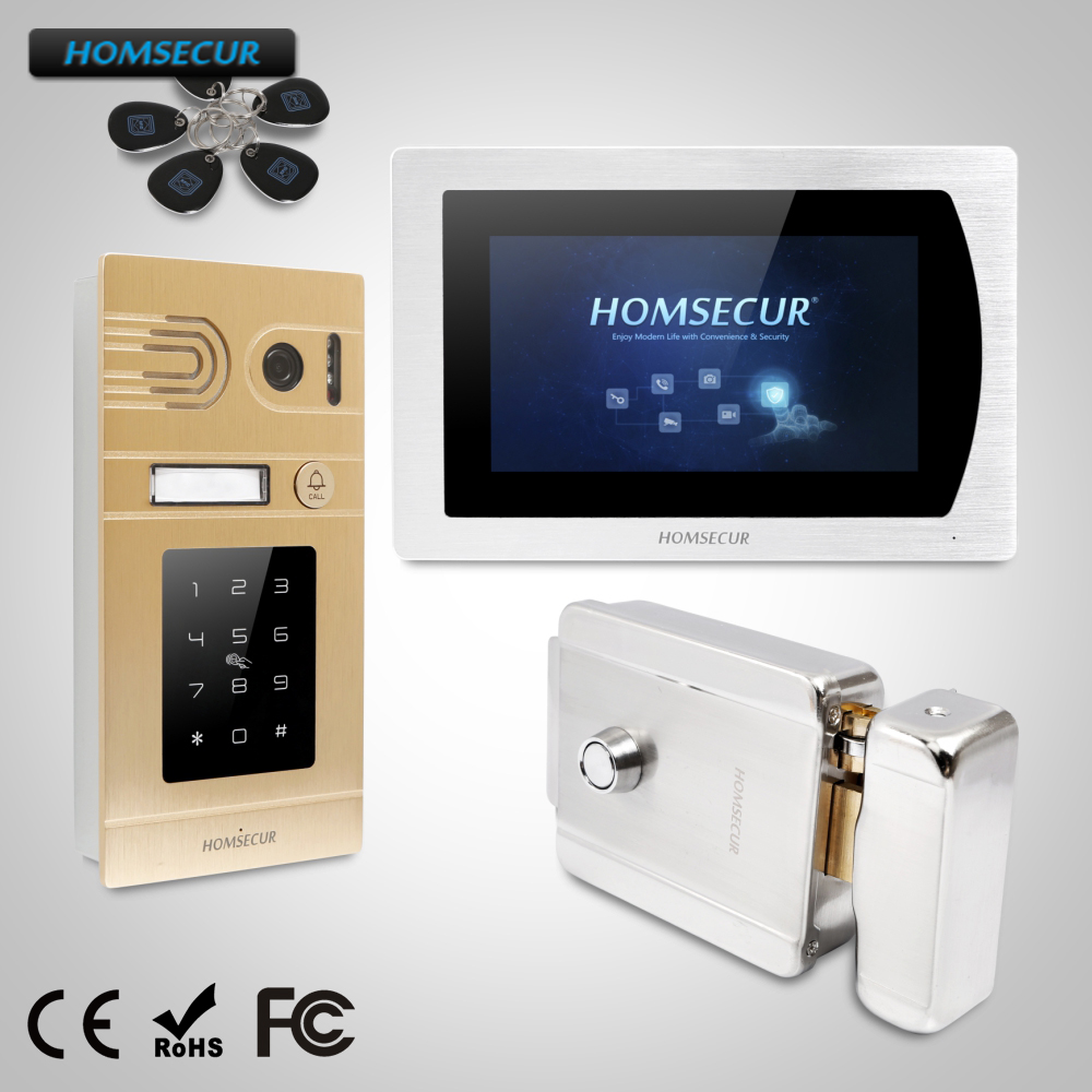 HOMSECUR 7 Wired Video Door Entry Security Intercom Electric Lock+Keys Included+CAll Transfer+Motion Detection  BC071-G+BM717-SHOMSECUR 7 Wired Video Door Entry Security Intercom Electric Lock+Keys Included+CAll Transfer+Motion Detection  BC071-G+BM717-S