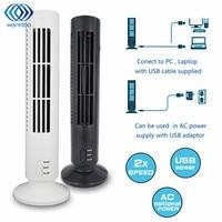 미니 휴대용 USB Leafless 타워 팬 홈 컴퓨터 사무실에 대 한 매우 조용한 강한 바람 2 속도 데스크 냉각 팬 정수기