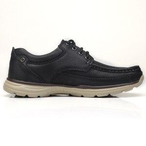 Image 3 - DEVE Hakiki Deri erkek ayakkabıları İlkbahar Yaz Yumuşak Inek Derisi erkek Loaferlar Hafif Nefes Delik Erkekler rahat ayakkabılar