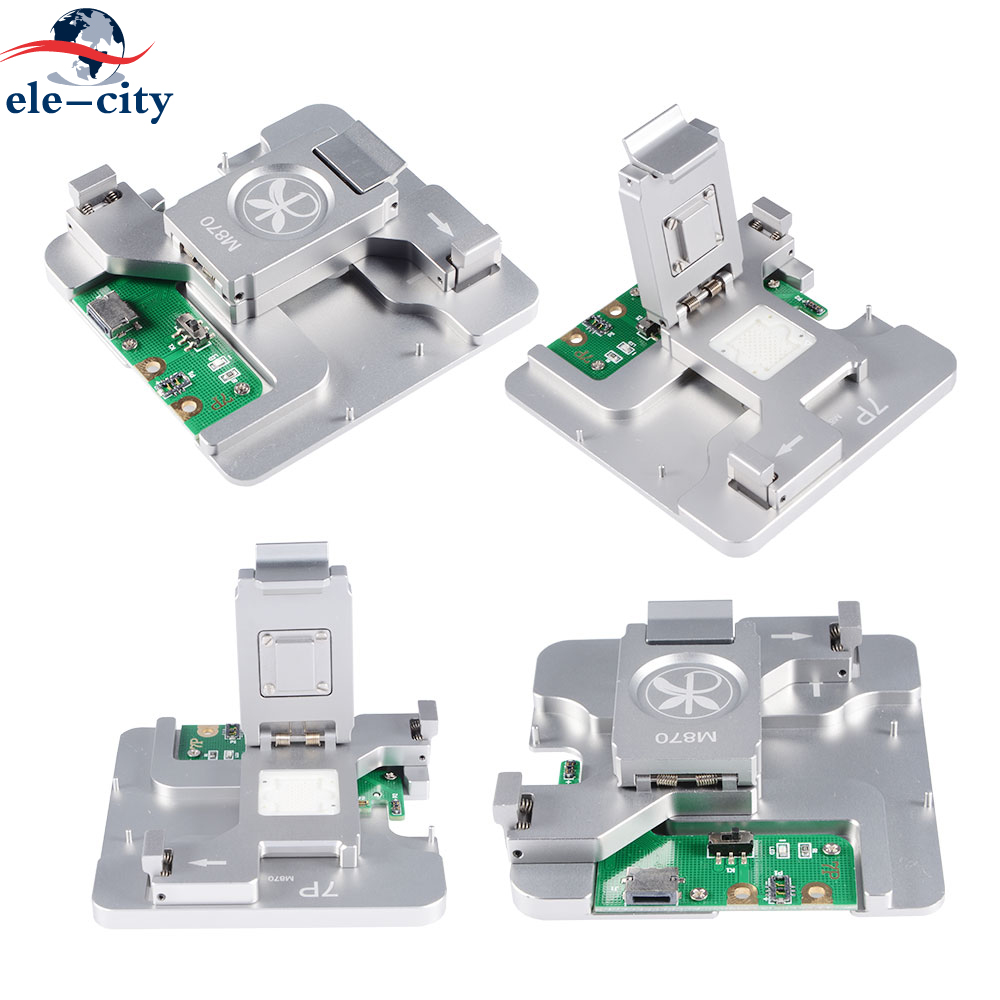 """2018 """"MIJING 870"""" 4 In 1 NAND Flash Memory Motherboard Test Fixture Tools hard disk test stand Repair for iPhone 6S Plus 7 Plus"""