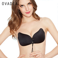 OVADEA Seamless Invisible Bra Adhesive Silicone Backless Bralette Strapless Push Up Bra Sexy Lingerie Fly Bra