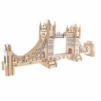 London Tower Bridge Ambachten Model Kinderen speelgoed 3D Puzzel houten speelgoed Houten Puzzel Educatief speelgoed voor Kinderen Kerstcadeau