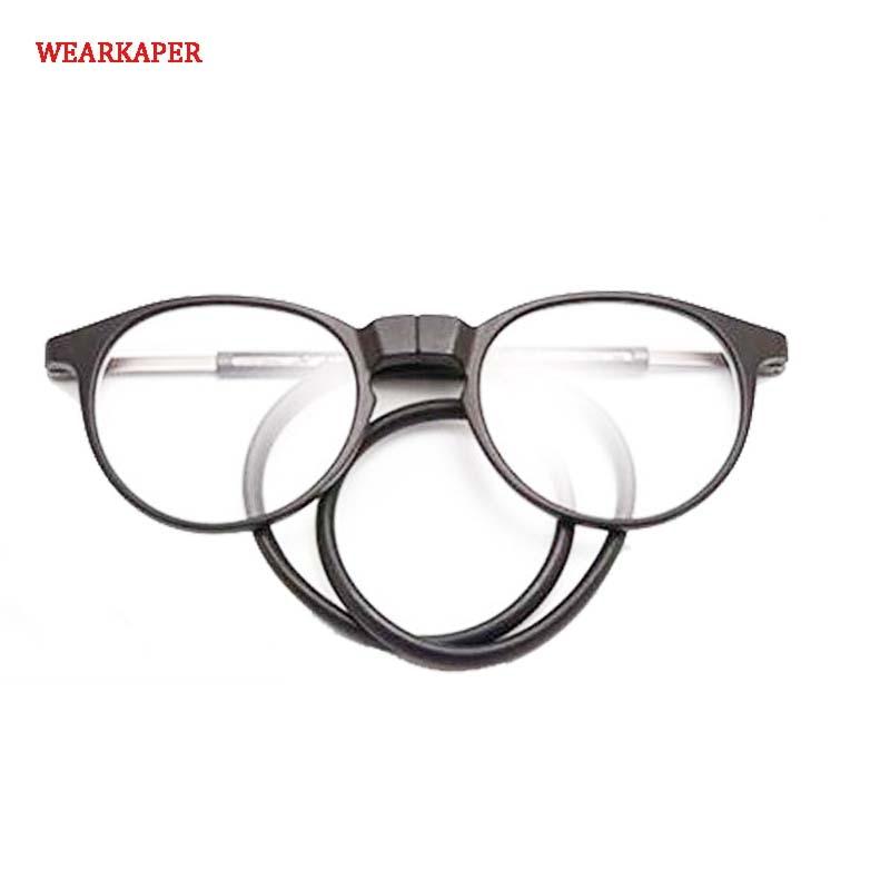 d0e82fdb1eb Detail Feedback Questions about WEARKAPER TR90 Magnetic Reading Glasses Men  Women Multi Folding Magnet Reading glasses Halter Neck Magnetic Presbyopic  1.0 ...