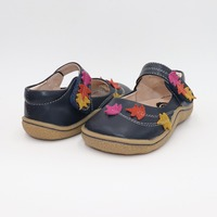 Kids Shoes Barefoot Toddler Genuine Leather Children's Girls Sneaker Sport Causal Flat Minimalist Flowers