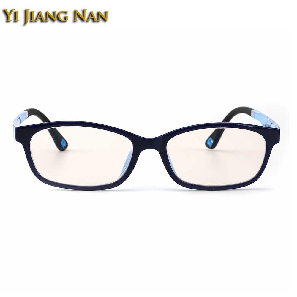 Yi Jiang Na бренд TR90 Дети анти синий луч блок рецептурные линзы очки для мальчиков желтый цвет компьютер 0 градусов очки