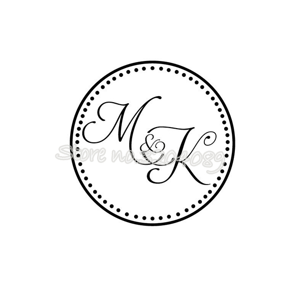 Us 19 8 15 Off Wedding Dance Floor Circle Monogram Sticker Vinyl Decal Removable For Custom Names Personalized Wedding Party Decor Mural Ea508 In