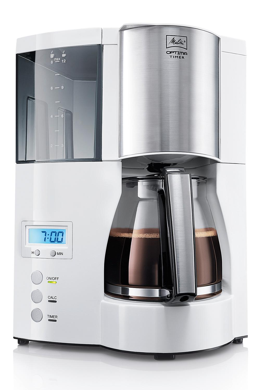 цены на Drip coffee maker Melitta Optima Glass Timer, White в интернет-магазинах