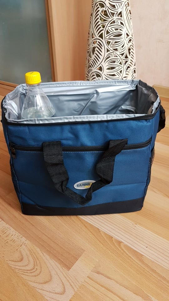 16l Thicken Folding Fresh Keeping Waterproof Nylon Lunch Bag Koeler Bag Voor Steak Insulation Thermal Bag Insulation Ice Pack photo review