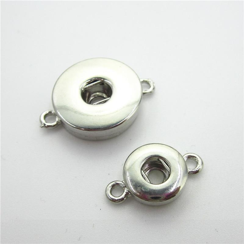 50pcs/lot Interchangeable Lock Snaps Button Accessories DIY Snap Necklace Bracelet&Bangles Fit 18mm 12mm Snap Jewelry