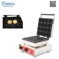 Mini Pancake Maker Commercial Electric Freeshipping16PCS Small Round Shape Waffle Baking Making Machine