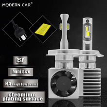 Modern Car H4/9003/HB2 Hi/Lo CSP 60w 9000LM 6500k White H4 led Headlight Side Fan Cooling Mini Size Super Bright Headlights
