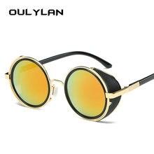 46635b4c3ecdd Oulylan Steampunk Óculos De Sol Das Mulheres Dos Homens Projeto À Prova de  Vento Óculos Óculos de Metal Do Punk Do Vintage Óculo.