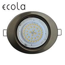 Ecola GX53 H4 FT3238 Светильник встраиваемый Эллипс для ламп GX53 без рефлектора 41x126x106