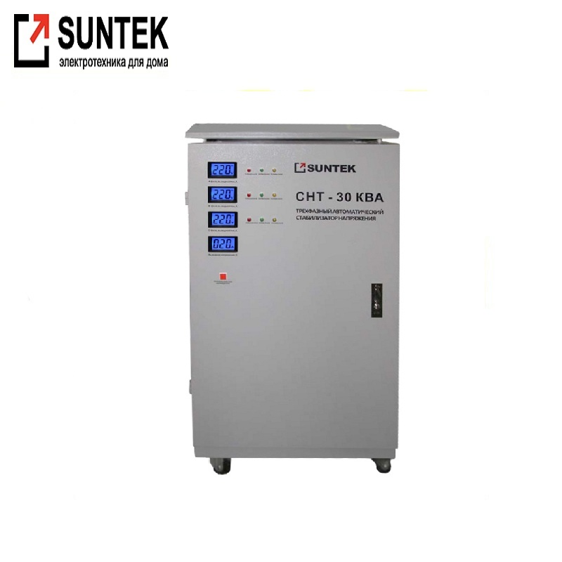 все цены на Three-phase voltage regulator SUNTEK SNT 30000 VA AC Stabilizer Power stab Constant voltage Energy saving of the whole house онлайн