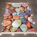 Else Синий Оранжевый Желтый цветной Галька Камни 3d печать Противоскользящий задний моющийся декоративный ковер
