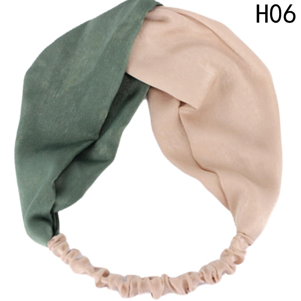 Colourful Women Hair Band Turban Headband Stripes Crossed Elastic Headbands For Women Wide Hair Accessories