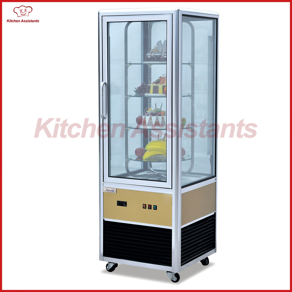 CP400 Four sides glass display cooler showcase