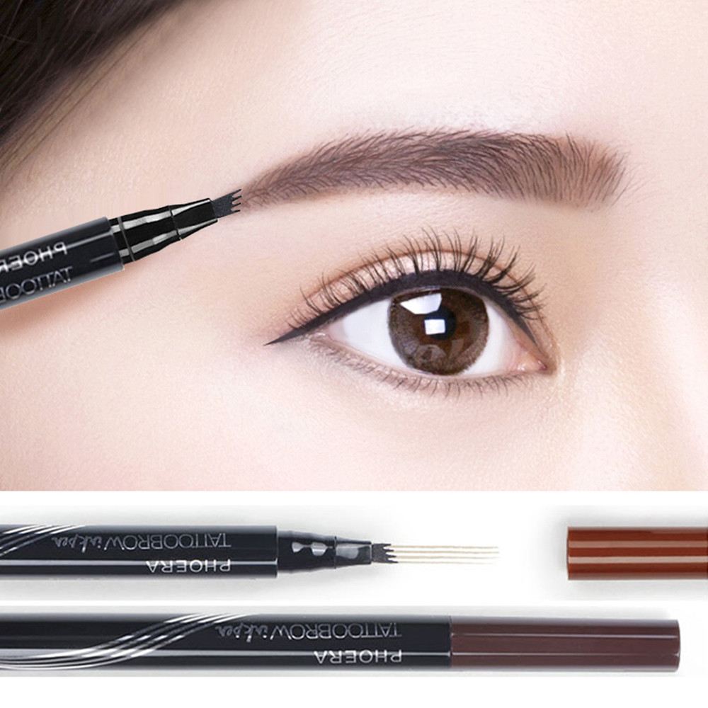 PHOERA 3 Color High-end Automatic Matte Eyebrow Pencil Waterproof Eyebrow  Tattoo Pen Lasting Cosmetic Dropshipping BTZ1 TSLM2