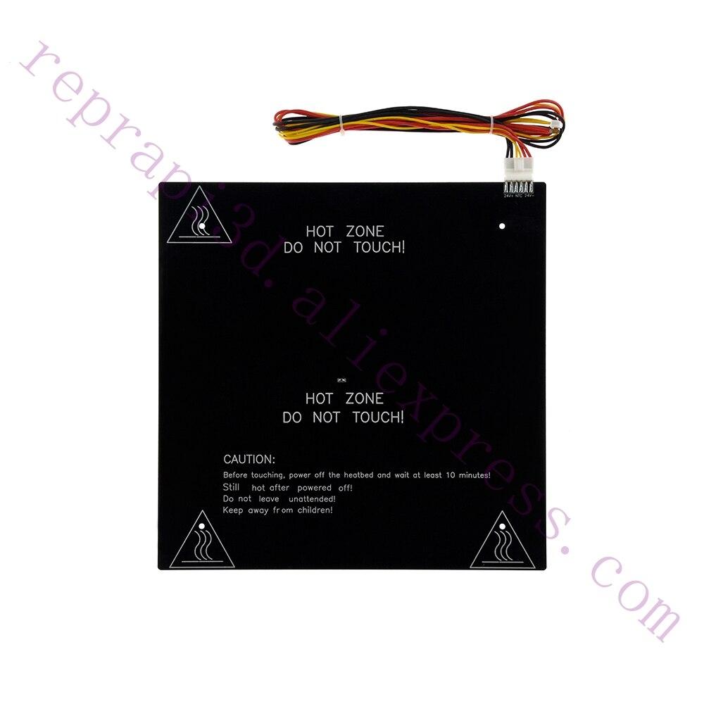 310x310mm CR10 24 v 220 w di Grande Formato di Stampa di Alluminio Riscaldato Letto Aggiornato In Alluminio Letto Riscaldamento Focolaio per CR-10 310*310*3mm