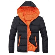 Giraffita WinterParkas Men Casual Warm Hooded Padded Thicken Outwear Clothing Size M-2xl Outwear Coat Hooded Fashion Jacket