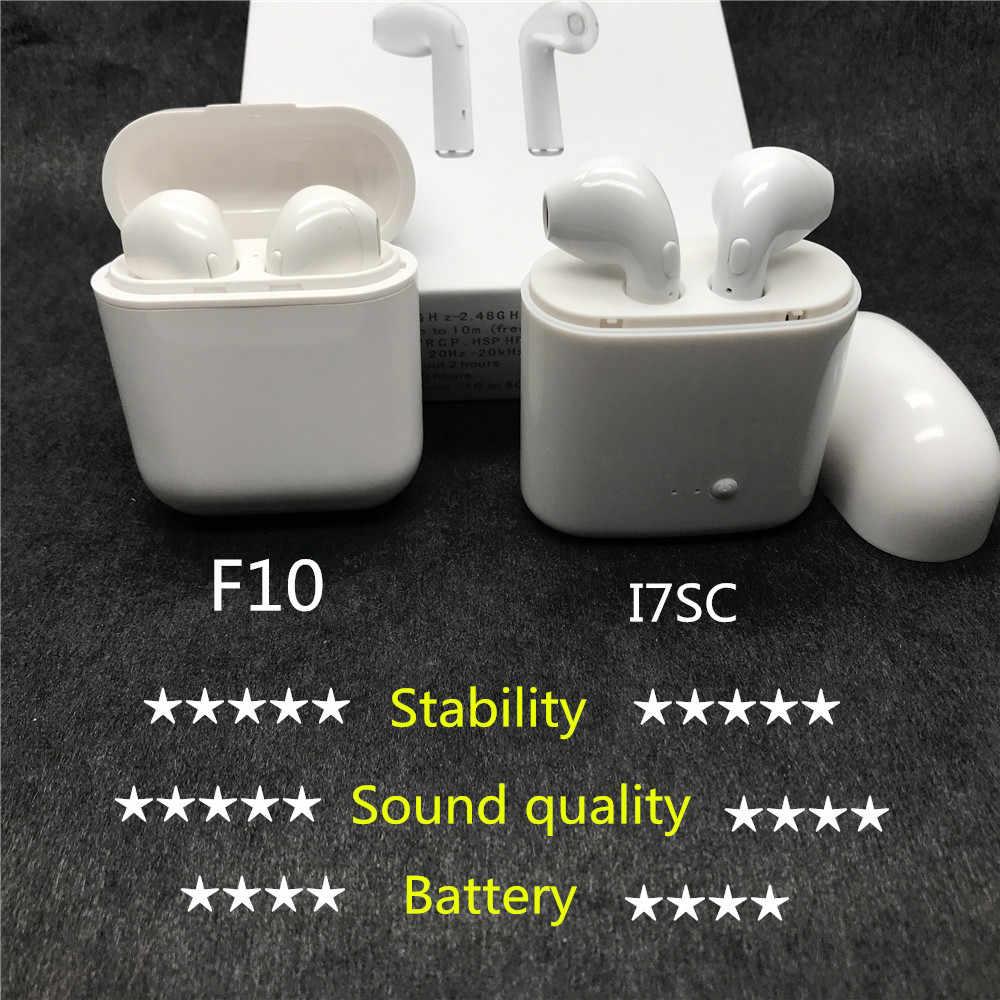 Nowy Padear F10 słuchawki słuchawki douszne bezprzewodowe z bluetooth słuchawki douszne mikrofon do iPhone'a 6/7/8 plus z systemem Android firmy Apple