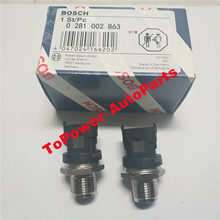 Fuel Rail Pressure Sensor Common Regulator OEM 0281002863/314014A400 for Hyyundai Accent AVEGA Kkia AGE BORREGO CARENS SOUL 2PCS